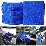 Semoic 20pcs Absorbent Microfiber Towel Car Home Kitchen Washing Clean Wash Cloth Blue