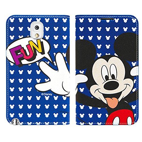 Galaxy S4 / ギャラクシー S4 (SC-04E) 対応 ケース Miracle Disney Frip / ミラクル ディズニー フリップ ケース Mickey Face / ミッキーフェイス