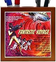 Rikki Knight Vintage Movie Posters Art Fantastic Voyage 4 Design 5-Inch Wooden Tile Pen Holder (RK-PH3709) [並行輸入品]