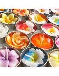 ティーライトアロマキャンドル福袋 おまかせ 10個セット 花フラワー 香りつき(10個入り)