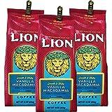 (ライオンコーヒー) バニラ マカダミアナッツ 283g×3パック (豆)