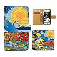 (ティアラ)Tiara AQUOS sense2 SHV43 スマホケース 手帳型 サーフ 手帳ケース カバー サーフィン ボード SURF 海 F0169040104401
