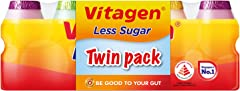 VITAGEN Less Sugar Cultured Milk Banded Twin Pack, Assorted, 125ml (Pack of 10) - Chilled