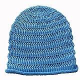 (エッジシティー)EdgeCity サマーニット帽 ヘンプ 麻 ニット帽 (12/サックス)