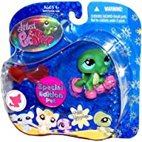 Hasbro Littlest Pet Shop Special Edition Pet Portable Collectible Bobble Head Figure Set - Happiest #987 Alligator with Slippers and Sunglasses by Littlest Pet Shop