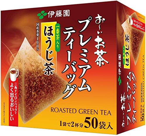 おーいお茶 プレミアムティーバッグ 一番茶入りほうじ茶 50袋