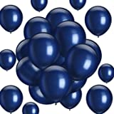 Hestya 100 Pack Latex Balloons for Weddings, Birthday Party, Bridal Shower, Party Decoration 10 Inch Navy Blue
