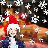 X-LAN 雰囲気満点!クリスマス ウォールステッカー 雪の結晶 壁紙 シール インテリアステッカー パーティー グッズ 装飾 デコレーション 飾り付け ディスプレイ (ホワイト)