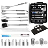 Stainless Steel BBQ Tool Set 20Pcs By EPRO | Barbecue Grill Tool Set For Indoor And Outdoor Cooking Needs With Carrying Bag |