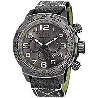 Akribos XXIV Trek Mens Casual Watch - Sunburst Effect Dial - Chronograph Quartz - Leather Strap