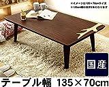 家具調コタツ・こたつ 長方形 135cm幅(ウォールナット材)