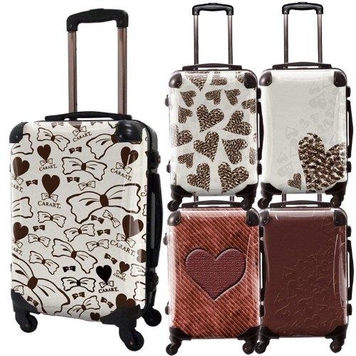 ココアチョスーツケース/ハート/フレーム4輪/TSAロック/機内持込可能/チョコ ホワイトチョコ ハートホワイト ハートチョコ チョコリボン/ブラウン/CRA01-013