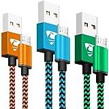 マイクロ usb ケーブル 1.8m Aioneus micro usbケーブル 3本セット USBケーブル micro b アンドロイド充電コード XperiaZ5 Z4 Z3 GalaxyS7 edge S6 S5 S4 S3 Note5 4 3