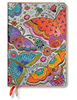 Paperblanks ペーパーブランクス 手帳 Dayplanners 2017 Flutterbyes Midi Day-at-a-Time 12Months 英語版 正規輸入品 DE3394-3