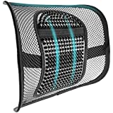 SAMYOUNG Mesh Back Support, Adjustable Mesh Lumbar Support Seat Cushion with Breathable Mesh Construction for Office Chairs C