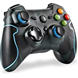 EasySMX ESM-9013 2.4G Wireless Game Controller Joysticks Dual Vibration Turbo for PS3/Android Phone Tablet/Window PC (Camoufl