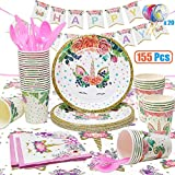 VCOSTORE Pink and Gold Party Decorations Kit Decoration Birthday Party Favors Happy Birthday Banner