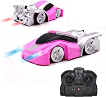 Qun Feng ミニクライミングカー 远程遥控汽车遥控车高速车墙吸附飞机玩具儿童粉色