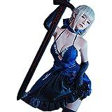 [milky time] ウィッグ付き Fate/Grand Order FGO セイバー コスプレ ドレス 最終再臨 オルタ アルトリアペンドラゴン ハロウィン