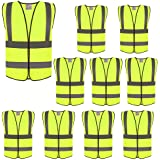 ZOJO High Visibility Reflective Vests,Adjustable Size,Lightweight Mesh Fabric, Wholesale Safety Vest for Outdoor Works, Cycli