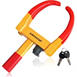"""KAYCENTOP Wheel Clamp Lock Universal Security Tire Lock Anti Theft Lock Fit Most Vehicles, Max 10"""" Tire Width and 7.5"""" Reach,"""