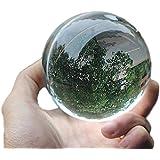 rubitas ジャグリング クリスタル ボール 60 ~ 110mm マジック 占い 水晶玉 大道芸人 クリア (80…