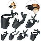 Dog Muzzles Suit 7 PCS Anti-Biting Barking Muzzles Adjustable Dog Mouth Cover for Small Medium Large Extra Dog