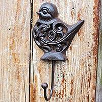 HZB ヨーロッパのレトロ鋳鉄、中空壁、壁掛け、コートハンガーフック、装飾フック、バードフック
