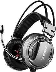 XIBERIA V10 ゲーミングヘッドセット PS4 ヘッドホン 3.5ミリ端子 高集音性マイク付 マイク位置360度調整可能 プレステ4 任天堂switch ノートパソコン iPhone スマホ などに対応(ブラック)
