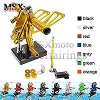 MSX-moto 可倒式 調整型 CNC アジャスタブル バックステップ 適応ホンダ Honda CBR954RR 2000 2201 2002 2003 CBR929RR 2000 2001 金/ゴールド