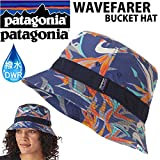 PATAGONIA パタゴニア ハット WAVEFARER BUCKET HAT PPCB PITON PARADISE CHANNEL BLUE 撥水加工 DWR バケットハット PATAGONIA キャップ 帽子