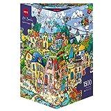 "Heye ""Happytown Berman Triangular Puzzles (1500-Piece, Multi-Colour)"
