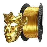 シルクゴールドPLAフィラメント1.75mm 3D プリンター フィラメントシルクPLA 1KG スプール あらゆる3D プリンターに対応 3D造形材料素材PLA (シルクゴールド)