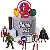 6pcs Avengers Cake Topper, Avengers themed party cake decorations, kids birthday party cake decorations supplies