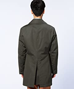 Cotton Polyester Double Breasted Coat 1125-133-5314: Olive