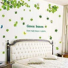 Cattie Girl 木 春 緑 葉 ウォールステッカーリムーバブルシールルームステッカールームポスタールームペーパー紙壁画ホームデコレーション家庭用品