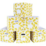 MAX Houser Fabric Storage Bins Cubes Baskets Containers with Dual Plastic Handles for Home Closet Bedroom Drawers Organizers,