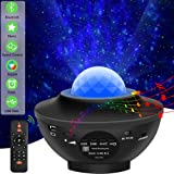 Laser Star Projector Light LED Night Light Projector 3-in-1 Sky Twilight Star Ocean Wave Projection Bluetooth Speaker Voice C