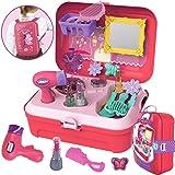 CORPER TOYS おままごと お化粧 ごっこ遊び メイクセット メイクアップ お化粧おもちゃ メイクおもちゃ 女の子 プリンセス ドレッサー ボックス