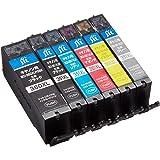 【Amazon限定ブランド】レイワインク キヤノン(CANON) BCI-351XL+350XL/6MP(大容量) 対応 6色セット リサイクルインク 日本製JIT-NC3503516PXL