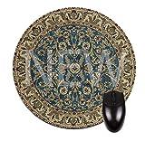 ブルーオリエンタル/ Persain rug-mat-roundマウスパッド–スタイリッシュな、耐久性オフィスアクセサリーMade in the USA