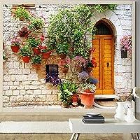 Wxmca 壁紙3 D牧歌的なロマンス美しいコテージの壁紙リビングルームのバルコニー装飾背景壁画-150X120Cm