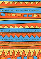 igsticker ポスター ウォールステッカー シール式ステッカー 飾り 210×297㎜ A4 写真 フォト 壁 インテリア おしゃれ 剥がせる wall sticker poster 007121 チェック・ボーダー 赤 青 模様