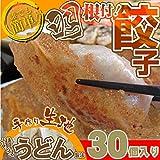 【冷凍】手作り純生餃子30個入り 【讃岐うどん製法で皮を作りました】