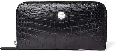hinn(ヒン) 【受注生産/ご注文から約2か月でお届け】 SMART LUXURY MADE in JAPAN クロコダイル ウォレット メンズ 長財布 ブラック