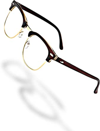 M2MJAPAN ブルーライトカット メガネ ブルーライト & UV カットファッション 伊達 めがね おしゃれ ブロウ タイプ メンズ レディース 兼用
