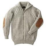 カーディガン セーター メンズ レディース 英国製 羊毛 ウール パークレインジャーブルゾン ベージュ 62804 イギリス製(M)