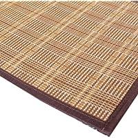 裸足にさらさら竹マット ウレタン入りでふっくらタイプ「チェック」 45x120cm 【ウレタン入り】