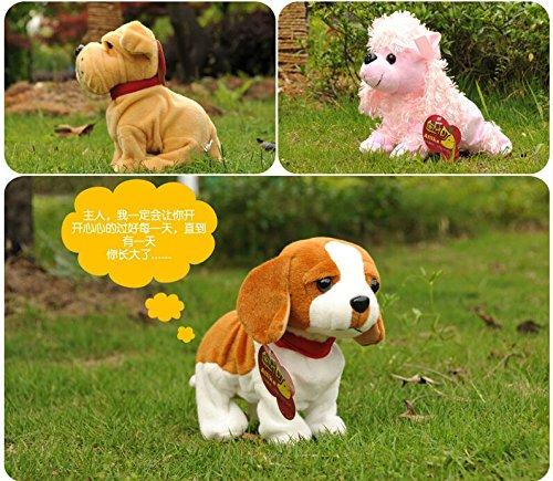 サウンドコントロール電子犬対話型電子ペットロボット犬の吠え声は子供のためのウォーク電子玩具犬スタンド