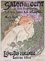 Salon Des Centヴィンテージポスター(アーティスト: Bouisset )フランスC。1899 12 x 18 Art Print LANT-58652-12x18
